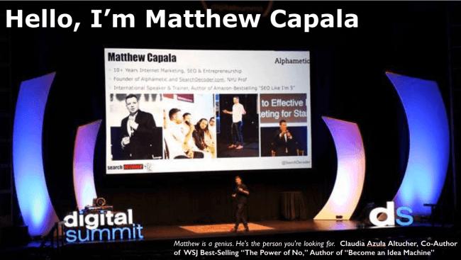Matthew Capala Speaker