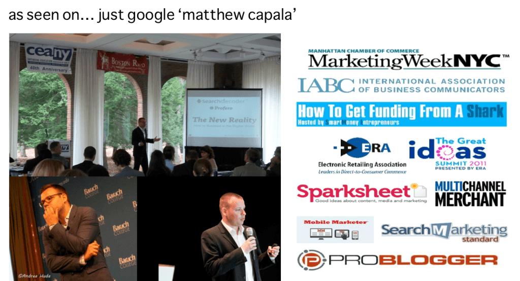 Matthew Capala - Speaking