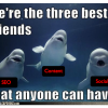 seo social media content best friends